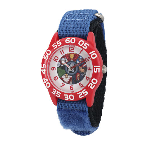 Marvel® Captain America Boys Blue and Red Strap Watch