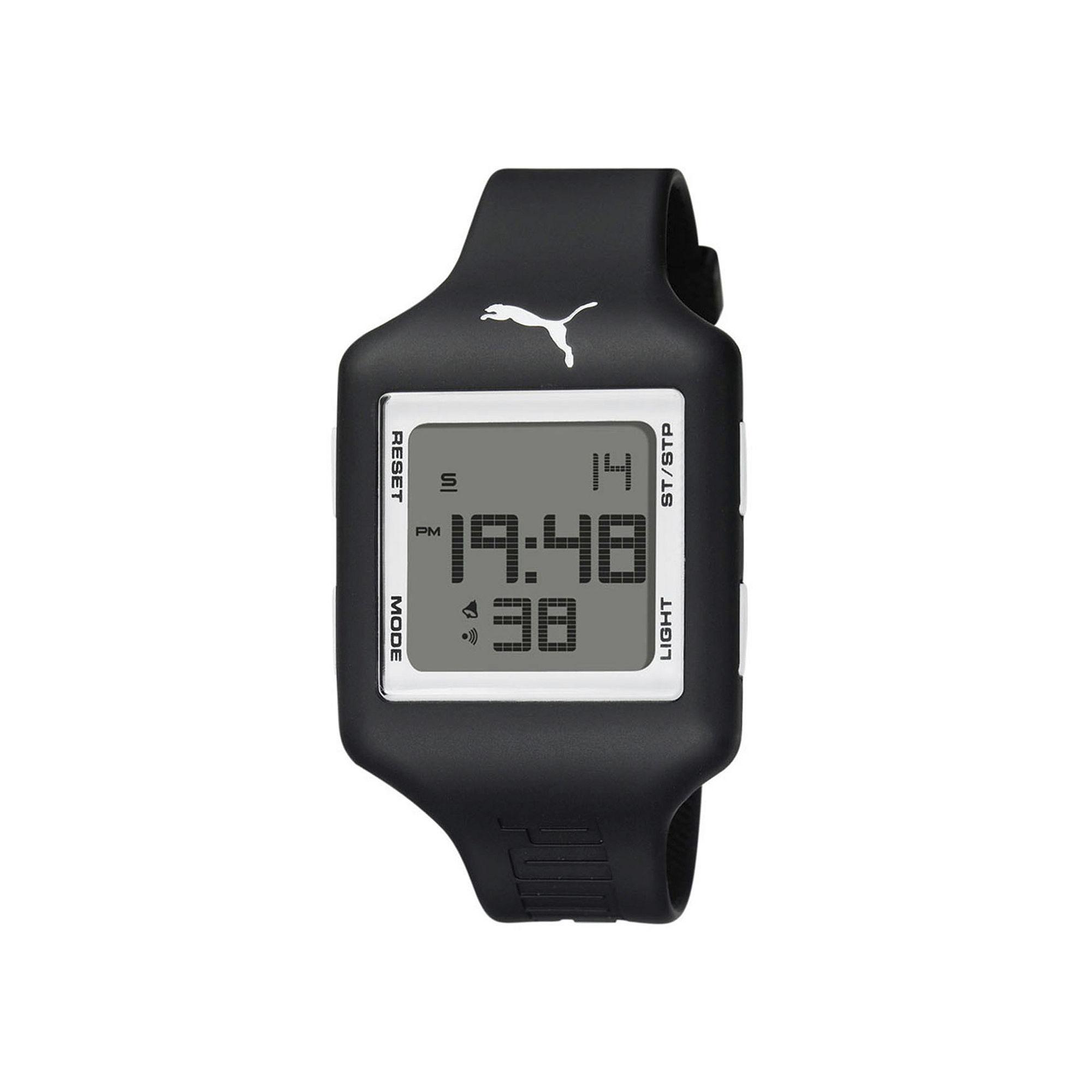 Puma Digital White and Black Square Sport Watch PU910791010
