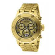 Invicta® Subaqua Mens 18K Gold Over Stainless Steel Diver Watch
