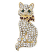 Monet® Crystal Cat Pin