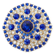 Monet® Blue and White Crystal Pin