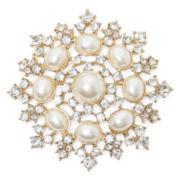 Monet® Simulated Pearl Crystal Pin