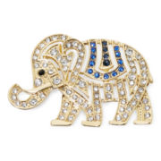 Monet® Crystal Elephant Pin