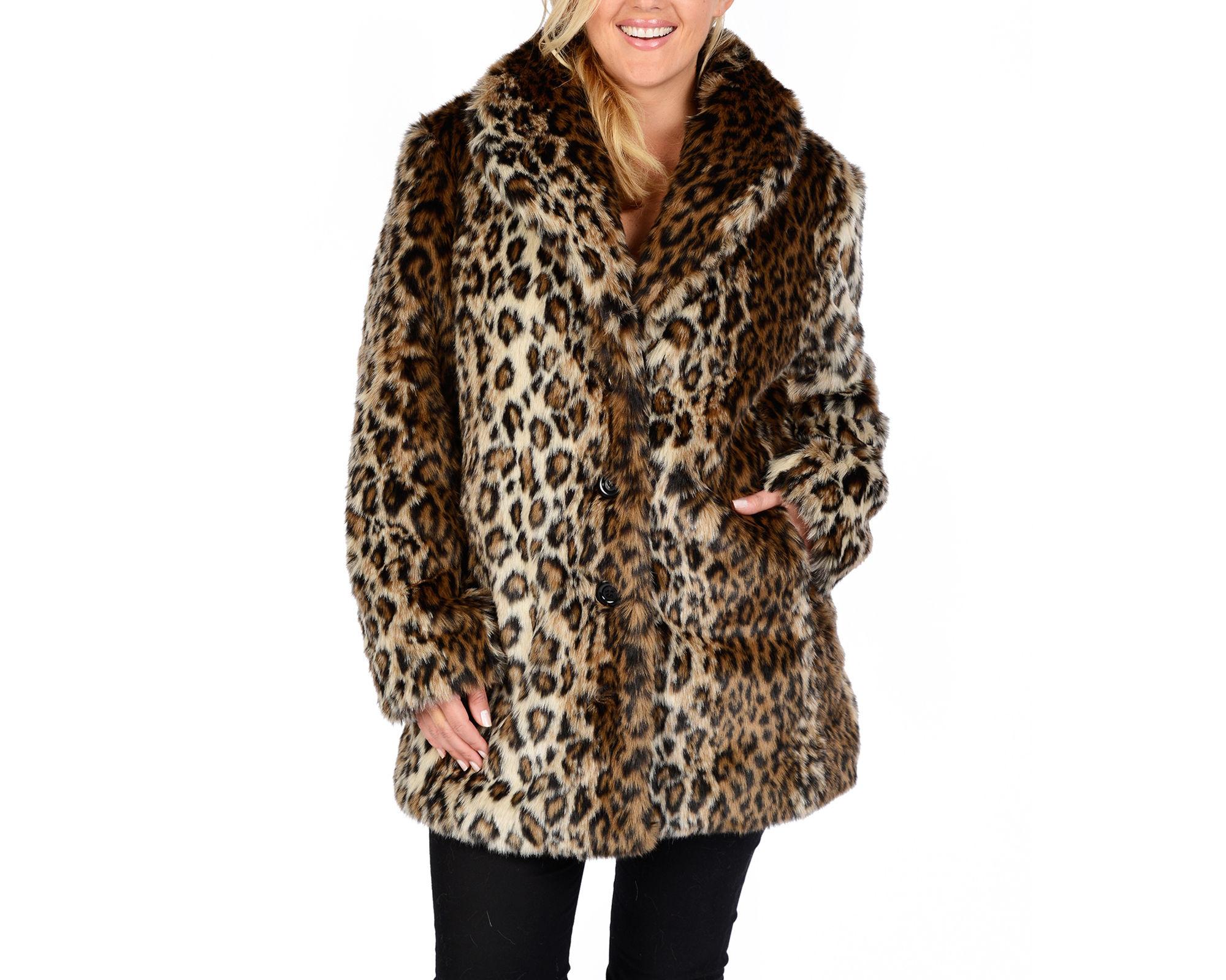 Excelled Faux-Fur Short Jacket - Plus