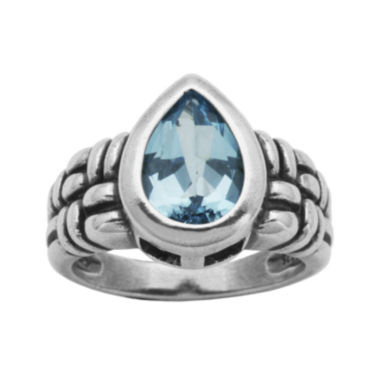 jcpenney.com | Genuine Sky Blue Topaz Oxidized Sterling Silver Ring