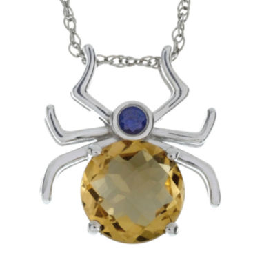 jcpenney.com | Lab-Created Citrine and Genuine Onyx Spider Sterling Silver Pendant Necklace