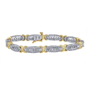 jcpenney.com | 3 CT. T.W. Diamond 10K Yellow Gold X-Link Bracelet