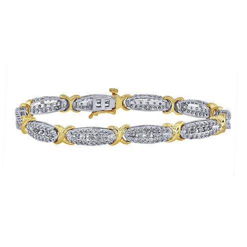 3 CT. T.W. Diamond 10K Yellow Gold X-Link Bracelet