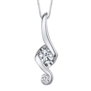 jcpenney.com | Juno Lucina® 1/3 CT. T.W. Diamond 14K White Gold Swirl Pendant Necklace