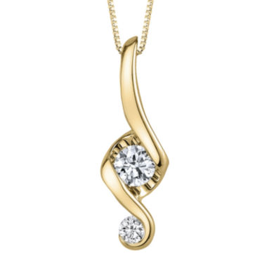 jcpenney.com | Juno Lucina® 3/8 CT. T.W. Diamond 14K Yellow Gold Swirl Pendant Necklace