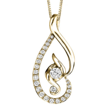 jcpenney.com | Juno Lucina® 5/8 CT. T.W. Diamond 14K Yellow Gold Pendant Necklace