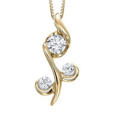 jcpenney.com | Juno Lucina® 1/4 CT. T.W. Diamond 14K Yellow Gold Pendant Necklace