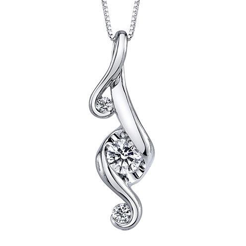 Juno Lucina® 1/3 CT. T.W. Diamond 14K White Gold Pendant Necklace