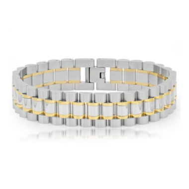jcpenney.com | Mens Two-Tone Stainless Steel Bracelet