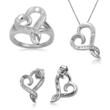 jcpenney.com | Hallmark Diamond 1/4 CT. T.W. Diamond Heart Earrings, Necklace or Ring