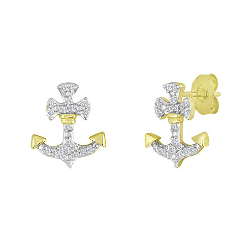 1/10 CT. T.W. Diamond Anchor Earrings