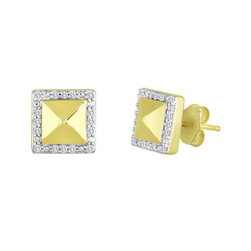 1/10 CT. T.W. Diamond Square Earrings