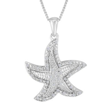 jcpenney.com | 1/10 CT. T.W. Diamond Sterling Silver Starfish Pendant Necklace