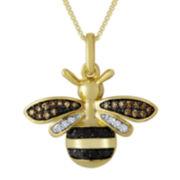 1/10 CT. T.W. Diamond Bee Pendant Necklace