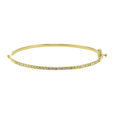 jcpenney.com | Diamond Glamour™ Diamond- and Crystal-Accent 14K Yellow Gold Over Silver Stackable Bangle Bracelet