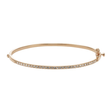 jcpenney.com | Diamond Glamour™ Diamond- and Crystal-Accent 14K Rose Gold Over Silver Stackable Bangle Bracelet
