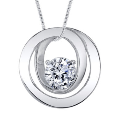 jcpenney.com | Inspired Moments™ Cubic Zirconia Sterling Silver Friends Pendant Necklace