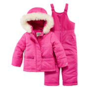 OshKosh B'Gosh® 2-pc Printed Snowsuit  - Girls Toddler 2t-4t