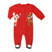 Rudolph the Red-Nosed Reindeer and Clarice Sleeper - Baby Girls 3m-9m