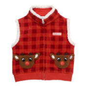 Rudolph the Red Nose Reindeer Vest - Baby 3m-12m