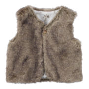 Carter's® Faux-Fur Vest - Baby Girls newborn-24m