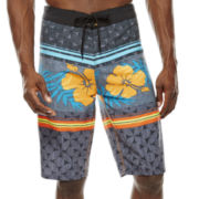 Burnside® Mosaic Flower Board Shorts