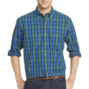 IZOD® Long-Sleeve Tartan Plaid Shirt