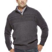 Dockers® Mockneck Quarter-Zip Sweater