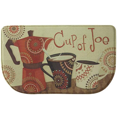 Bacova Cup of Joe Memory Foam Wedge Rug