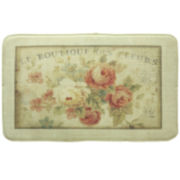 Bacova Parisian Flower Memory Foam Rectangular Rug