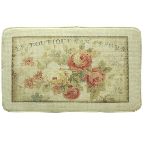 Bacova Parisian Flower Memory Foam Rectangular Rug