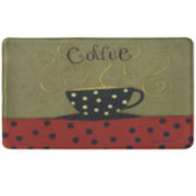 Bacova Coffee Cup Memory Foam Rectangular Rug