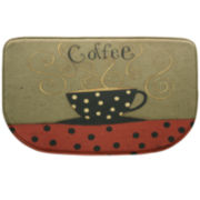 Bacova Coffee Cup Memory Foam Wedge Rug
