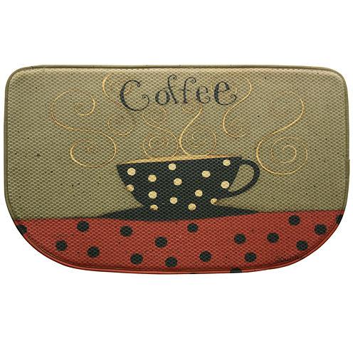 Bacova Coffee Cup Memory Foam Wedge Rug