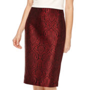 Worthington® Jacquard Pencil Skirt