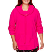 City Streets® Cowlneck Polar Fleece Tunic - Plus