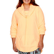 City Streets® Cowlneck Polar Fleece Tunic - Juniors Plus
