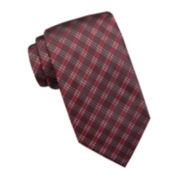Stafford® Madison Shiny Plaid Silk Tie