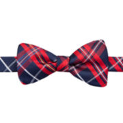 Stafford® Holiday Tartan Plaid Pre-Tied Bow Tie