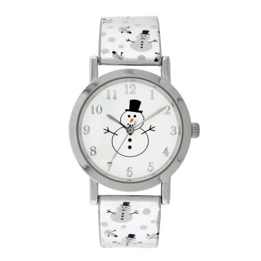 jcpenney.com | Mixit™ Womens Silver-Tone Snowman Watch