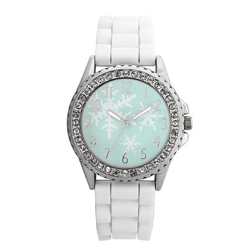Mixit™ Womens White Christmas Tree Watch