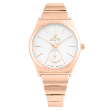 jcpenney.com | Decree Womens Rose Goldtone Strap Watch-Pt2583rg