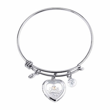 jcpenney.com | Disney Cinderella Womens Silver Over Brass Charm Bracelet