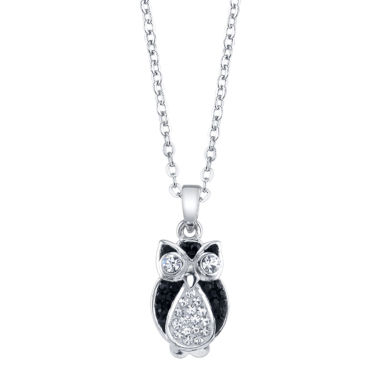 jcpenney.com | Crystal Sophistication Silver Over Brass Pendant Necklace