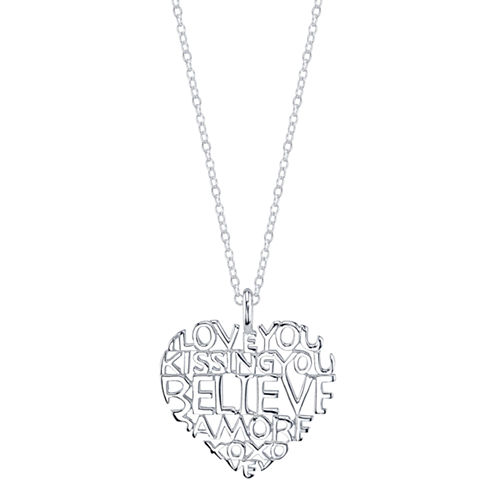 Sparkle Allure White Sterling Silver Pendant Necklace